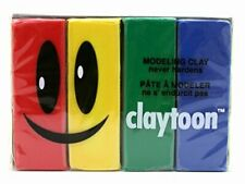 School Specialty Claytoon Oil Based Modeling Clay Set, 4 Assorted Colors