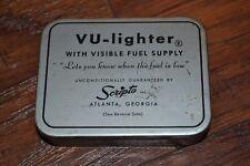 VU-lighter with Visible Fuel Supply by Scripto Atlanta, Georgia Tin