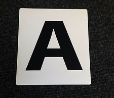 NEW SELF ADHESIVE Dressage Arena Markers / Letters x 12 A B C E F H K M R S V P
