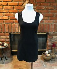 Designer GUESS Jeans sz  S Small Black MOD Sheath Stretch Ultra Mini Dress