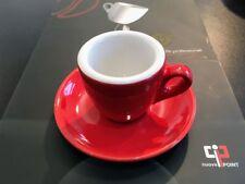 4x Espressotasse Nuova Point Palermo dickwandig Feldspat, mit Untertasse rot