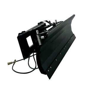 """Titan Attachments Hydraulic Skid Steer Dozer Blade 79"""" Snow Pusher Quick Tach"""