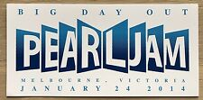 Pearl Jam - Melbourne 2014 Tour Big Day Out Sticker - Eddie Vedder