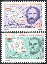 Poland 1986 Antarctic/Ship/Scientists/Polar Explorers/Environment 2v set n23445