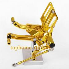 For Ducati 749 999 CNC Adjusting Rearset Footpegs Rear set Gold Foot Peg