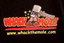 WHACK THE MOLE lrg T shirt arcade logo tee hammer game defunct OG wack mallet