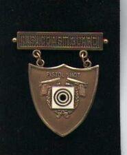 US Coast Guard Pistol Shooting badge in bronze