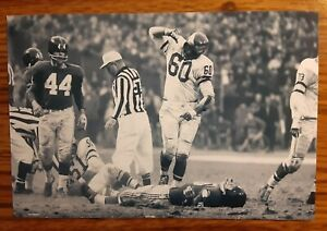 Chuck Bednarik Eagles Frank Gifford Giants Football 4x6 Photo Picture Card