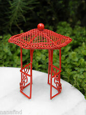 Miniature Dollhouse FAIRY GARDEN Furniture ~ Micro Mini Bright Red Gazebo