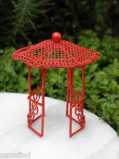 Miniature Dollhouse FAIRY GARDEN Furniture ~ Micro Mini Bright Red Gazebo