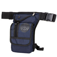 Men Outdoor Motorcycle Drop Leg Bag Tactical Hiking Thigh Waist Fanny Pack Pouch