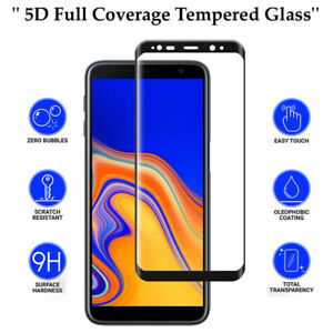 5D Anti Scratch 9H Tempered Glass Screen Protector for Samsung Galaxy J6 Plus