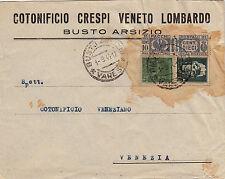 RSI-15c+25c(246+497)+10c(Pacchi 25)-Busta Busto Arsizio->Venezia 1.9.1944