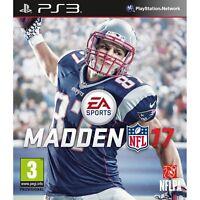 Madden NFL 17 ✅✅ Play Station 3 ✅  Dr.Technology ✅  US SELLER ✅✅  PS3
