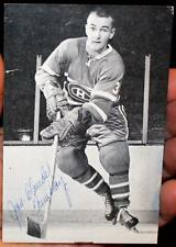 1960's  JC Jean Claude Tremblay Signed Montreal Canadiens Postcard !