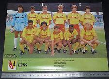 CLIPPING POSTER FOOTBALL 1986-1987 RACING CLUB LENS RCL BOLLAERT SANG & OR