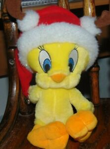 "Hallmark Tweety Bird Santa Reindeer Plush 10"" Christmas Looney Tunes"