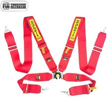 "Sabelt Universal Red 4 Point Camlock Quick Release Racing Seat Belt Harness 3"" W"