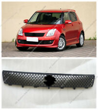 1pc Black Front Bumper Upper Grille Vent Hole Grill j For Suzuki Swift 2005-2008