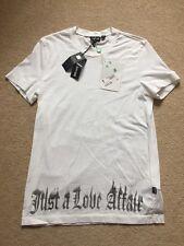 Just CAVALLI T-shirt JC JUST CAVALLI Uomo T-shirt di grandi dimensioni £ 70 BNWT STORIA D'AMORE