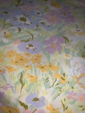 Vintage Perma Prest Sears Percale Abstract Floral Flower Queen Flat Sheet