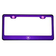 Purple Chrome Laser Etched Cadillac Logo License Plate Frame Stainless Steel 304