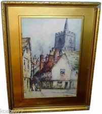 Vintage F ROBSON (Featherstone) WEST ST. WARE. Framed Picture Print
