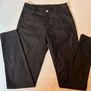 Slim Fit Black Denim Pull On Jeans Pants Size M 25 x 28