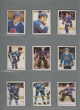 1981-82 O-Pee-Chee Hockey Sticker Quebec Nordiques Complete Team Set (10) OPC