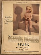 Vintage 1933 Pears Soap ( Signed) & LMS Railway Advertising Art: Punch Magazine