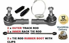 FOR VAUXHALL COMBO 01-2012 2x OUTER 2x INNER TRACK TIE ROD STEERING ENDS & BOOT