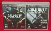 Black Ops I + II 1 2 Call of Duty COD - Sony PlayStation 3 PS3 Game Lot Working