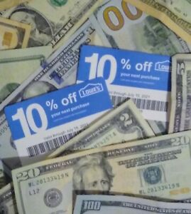 $AVE 2-10% off LOWES Competitor Cards for HOME DEPOT, etc. Exp 9/21 Read Below: