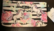 NWT Luv Betsey Johnson Unicorn Flower Striped Double Pouch Wristlet Wallet Purse