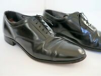 Bostonian Oxford Cap Toe Mens Black Leather Lace Up Shoes Made in USA Size 10M