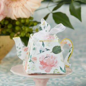 48 Floral Teapot Favor Box Wedding Bridal Shower Party Favors