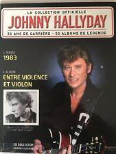 Johnny Hallyday La collection officielle Livre CD Entre violence et violon