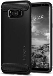 Spigen Rugged Armor for Samsung Galaxy S8 Case (2017) - Black 565CS21609