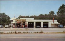 Woodbine GA Briese's Service Center Gas Station Roadside Postcard