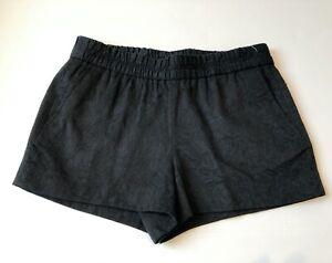 J. Crew Black Floral Jacquard Embossed Pull-on Boardwalk Shorts - Sz 6 - NWT $45