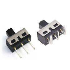 4.7mm 2A 125V SPDT 1P2T 2 Position 3 Pin Slide Switch 5mm Shaft Straight/Curved