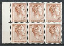 Luxemburg 628 postfris blok van zes