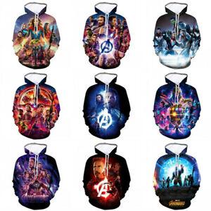 Marvel Avengers 4: Endgame 3D Hoodie Pullover Sweatshirt Coat Hooded Sweater