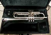YAMAHA YTR-732 Silver trumpet with hard case Schilke used Japan good condition