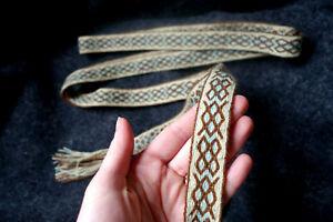 Tablet woven belt with Gungnir symbol. Handwoven Viking belt with rune Gar