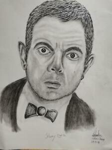 Sketch drawing of Rowan Atkinson as Mr Bean