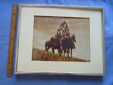 Framed Curtis Southwest People on Horseback Black and White Photo