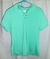 Callaway Women's Blue Opti-Dr Athletic Polo Shirt Top Size XL Extra Large