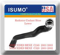 Radiator Lower Hose Fits:OEM#2035010282 Mercedes C240 2001-2003 C320 2001-2002