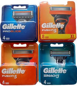 GILLETTE FUSION PROGLIDE MACH Razor Blades Genuine New Sealed UK Stock